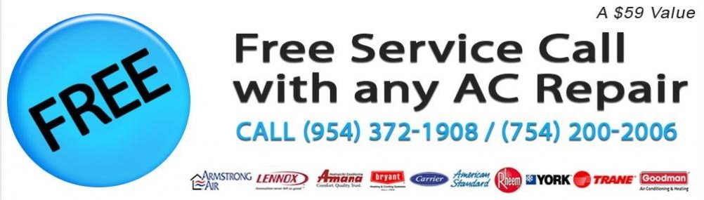 Free Service call With any AC Repair